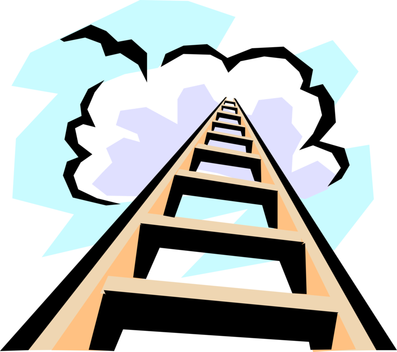 Staircase vector stairway to heaven. Step ladder image illustration
