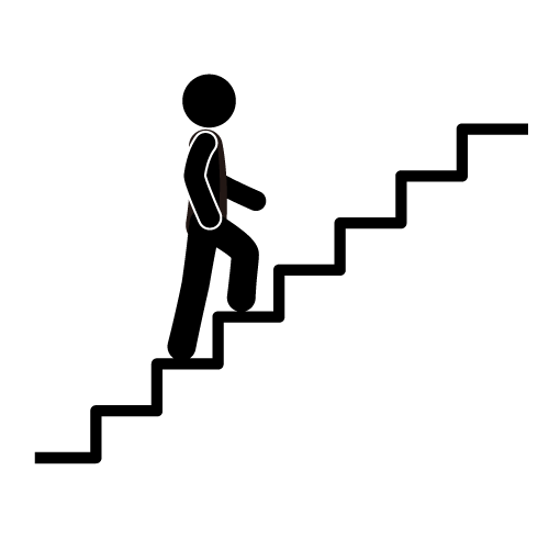 Steps clipart. Walking stairs