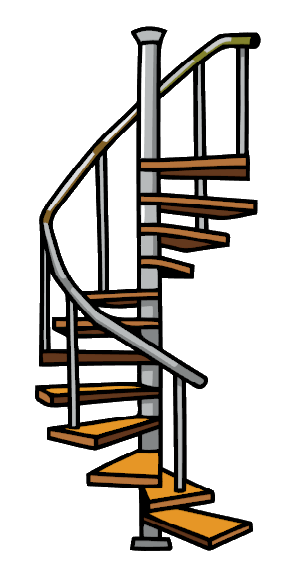 Stairs clipart png. Image spiral scribblenauts wiki