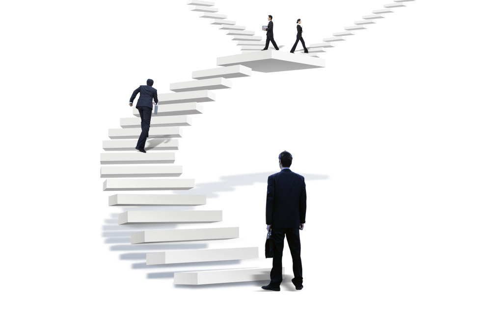 Walking on stairs png. Advertising the man transprent
