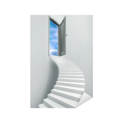 Stairs to heaven png. Ladder door freedom blue