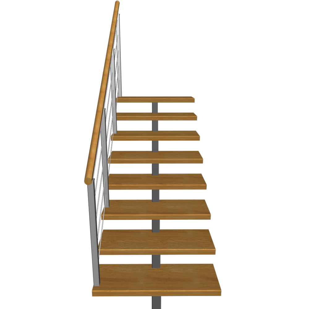 Stairs transparent 3 d. Short design and decorate