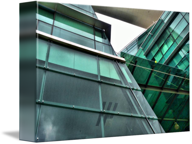 Stairs transparent architectural glass. Abstract no edit c