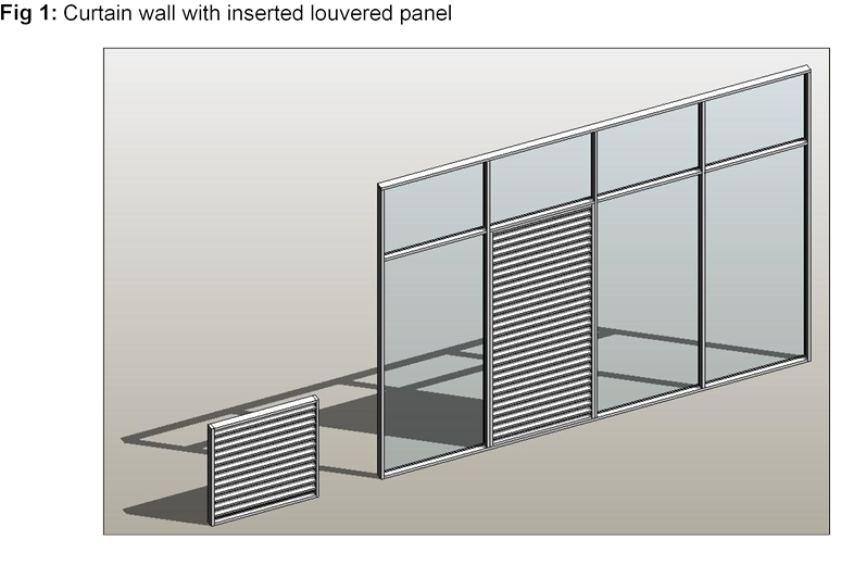Stairs transparent attached wall. Revit curtain walls with