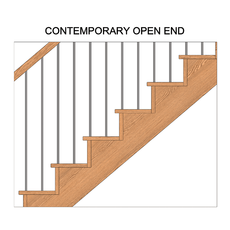 Stairs transparent contemporary. Stair styles components designed