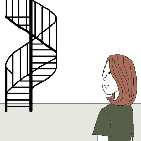 Success drawing staircase. Stairs dream dictionary interpret