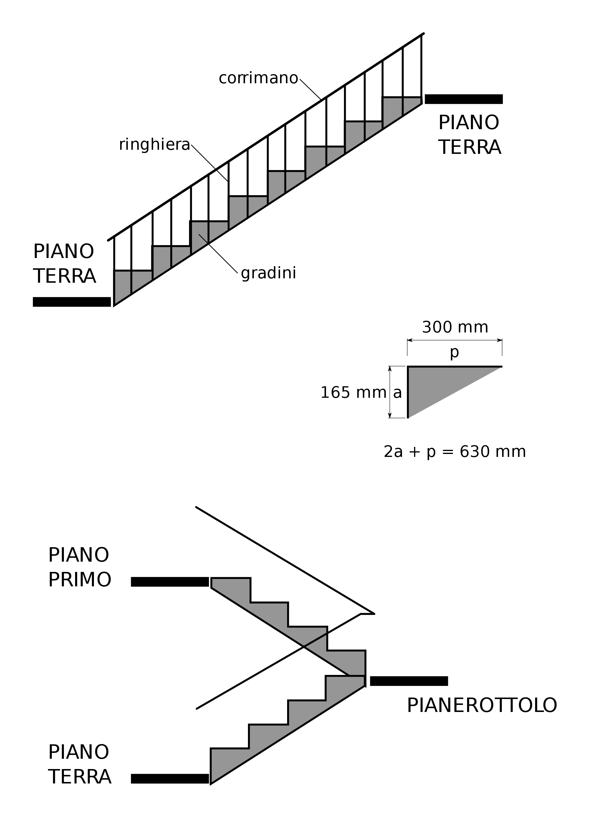 Stairs transparent italian style. File italy stair drawing