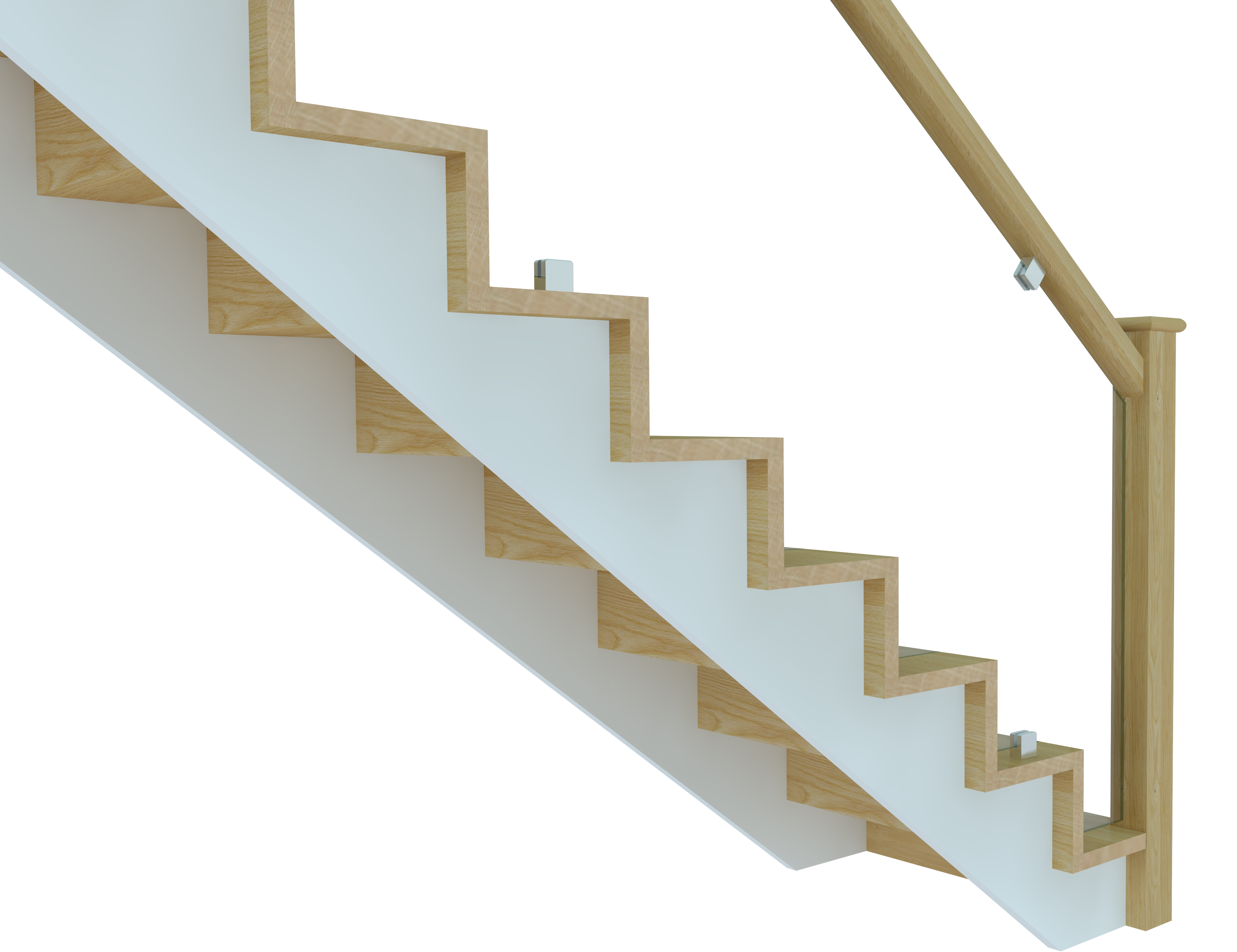 Stairs transparent modern. Introducing clearcut the cut