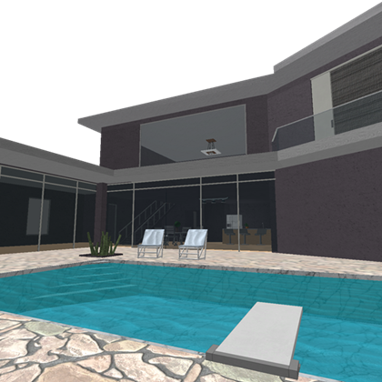 Stairs transparent modern mansion. Houselife roblox