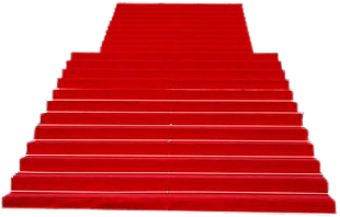 Stairs transparent red. Carpet psd official psds