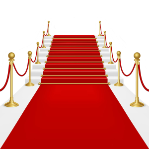 Stairs transparent red carpet. Png