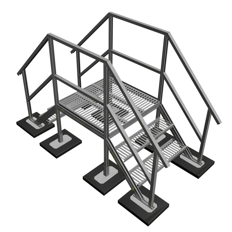 Stairs with platform png. Crossover bridge