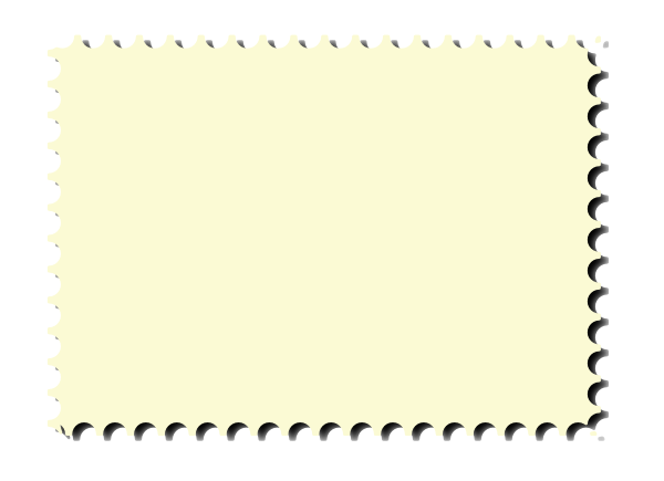 Postage stamp png. Perforated border with inkscape