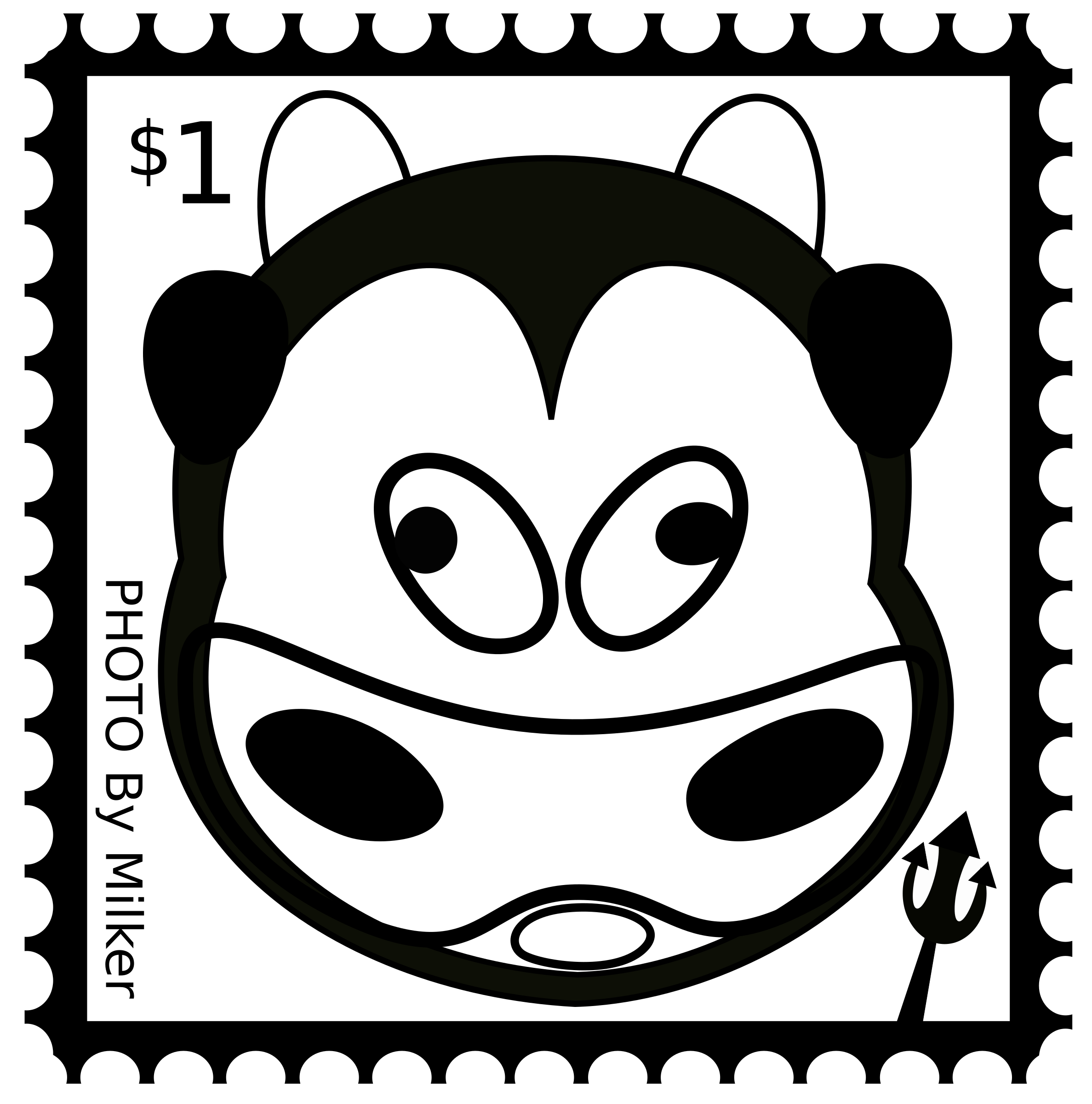 Stamp clipart. Cow big image png