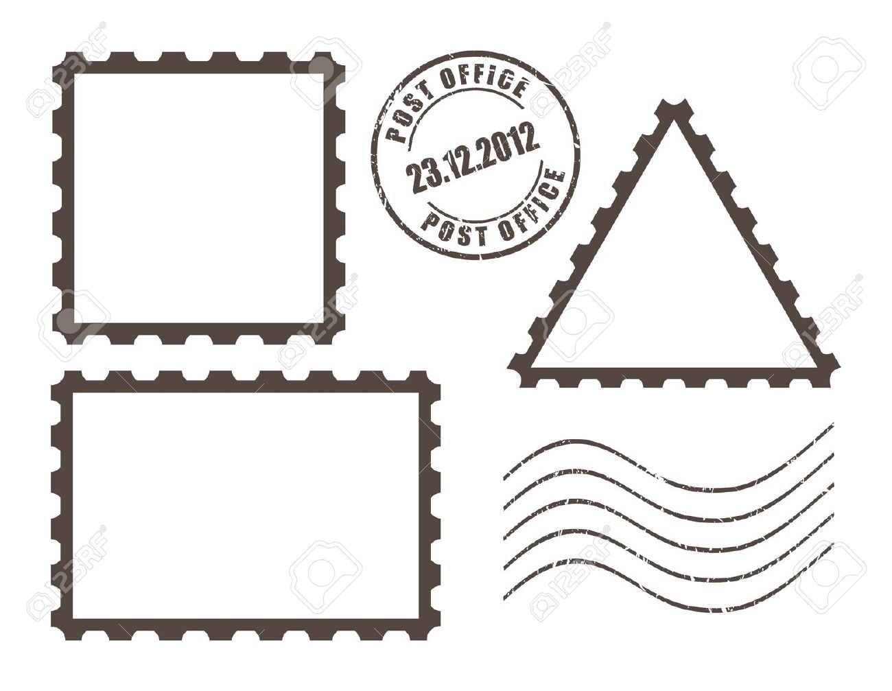 Beautiful of letter letters. Stamp clipart free