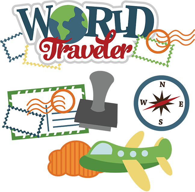 Stamp clipart free travel. Traveller cliparts download clip