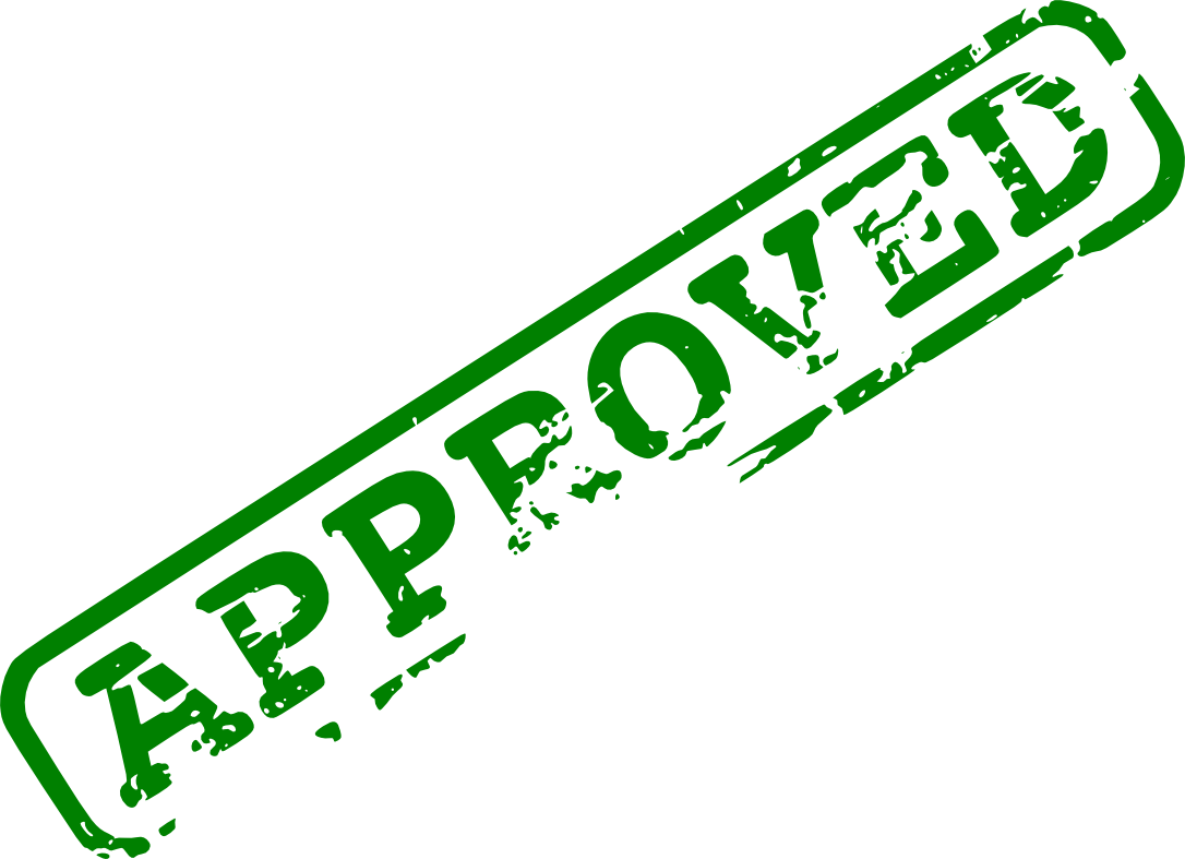 Stamp of approval png. Red green approved