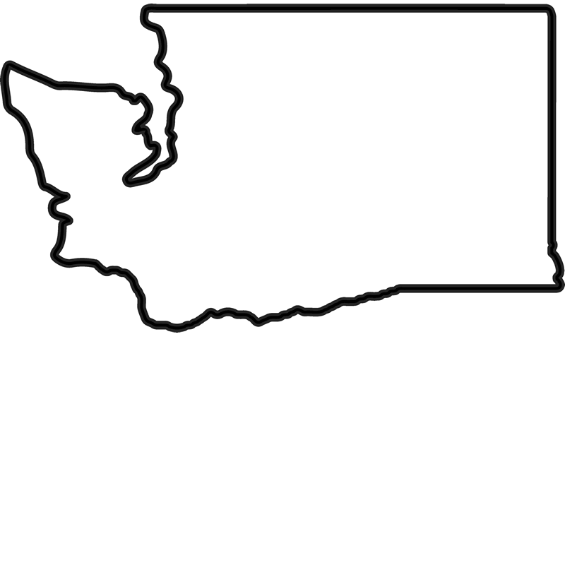 washington state outline png