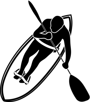 Stand clipart standup. Paddleboarding drawing line art