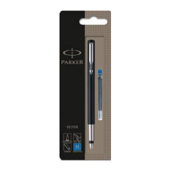 Standard vector. Fountain pen black s