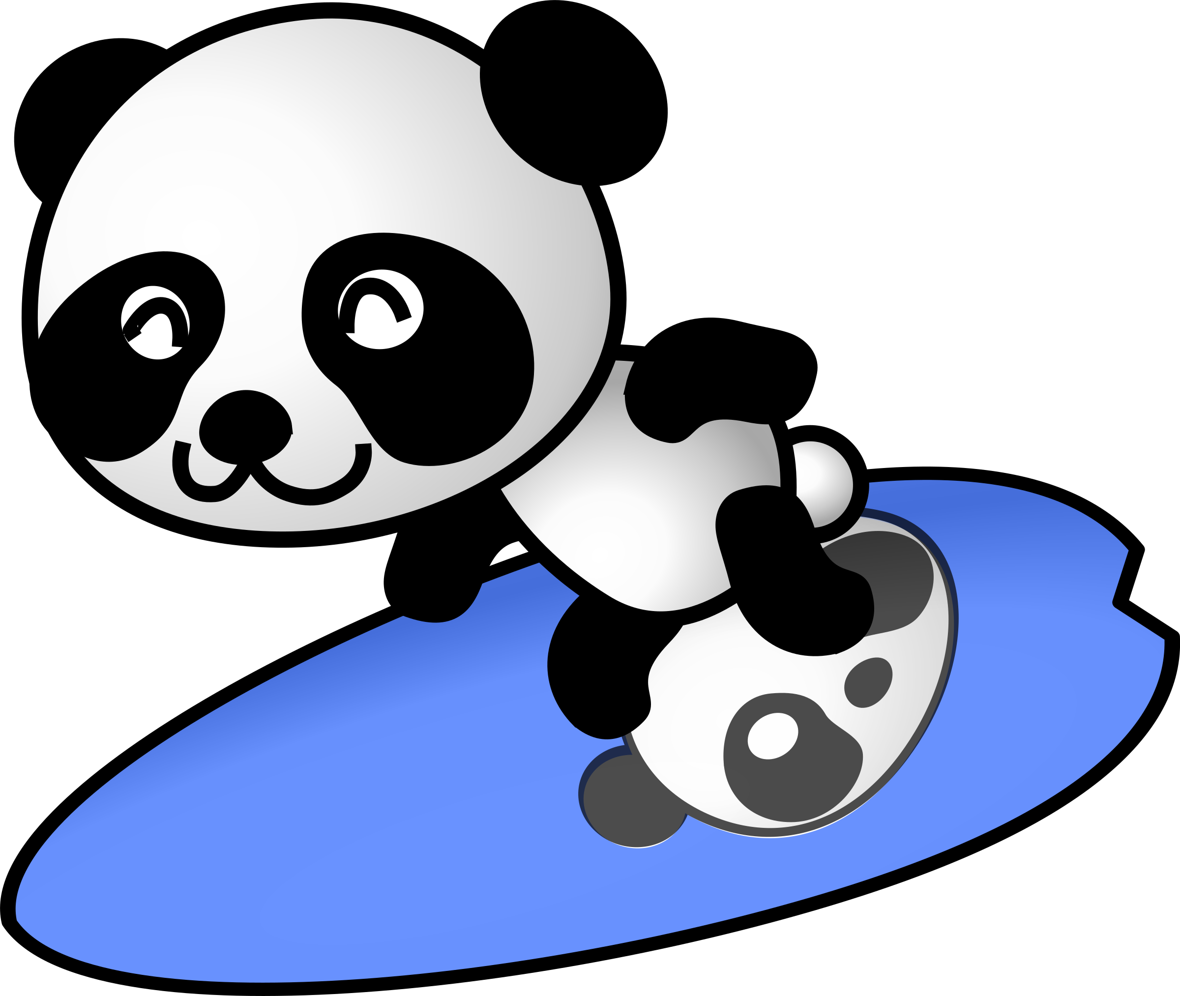 Standing panda png. Surfer icons free and