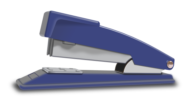 Stapler drawing realistic. Blue clip art at