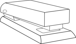 Stapler drawing technical. Clip art free use