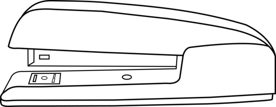 Stapler drawing. Clipart black and white