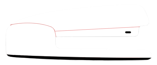 Stapler drawing realistic. Red coding tutorials and