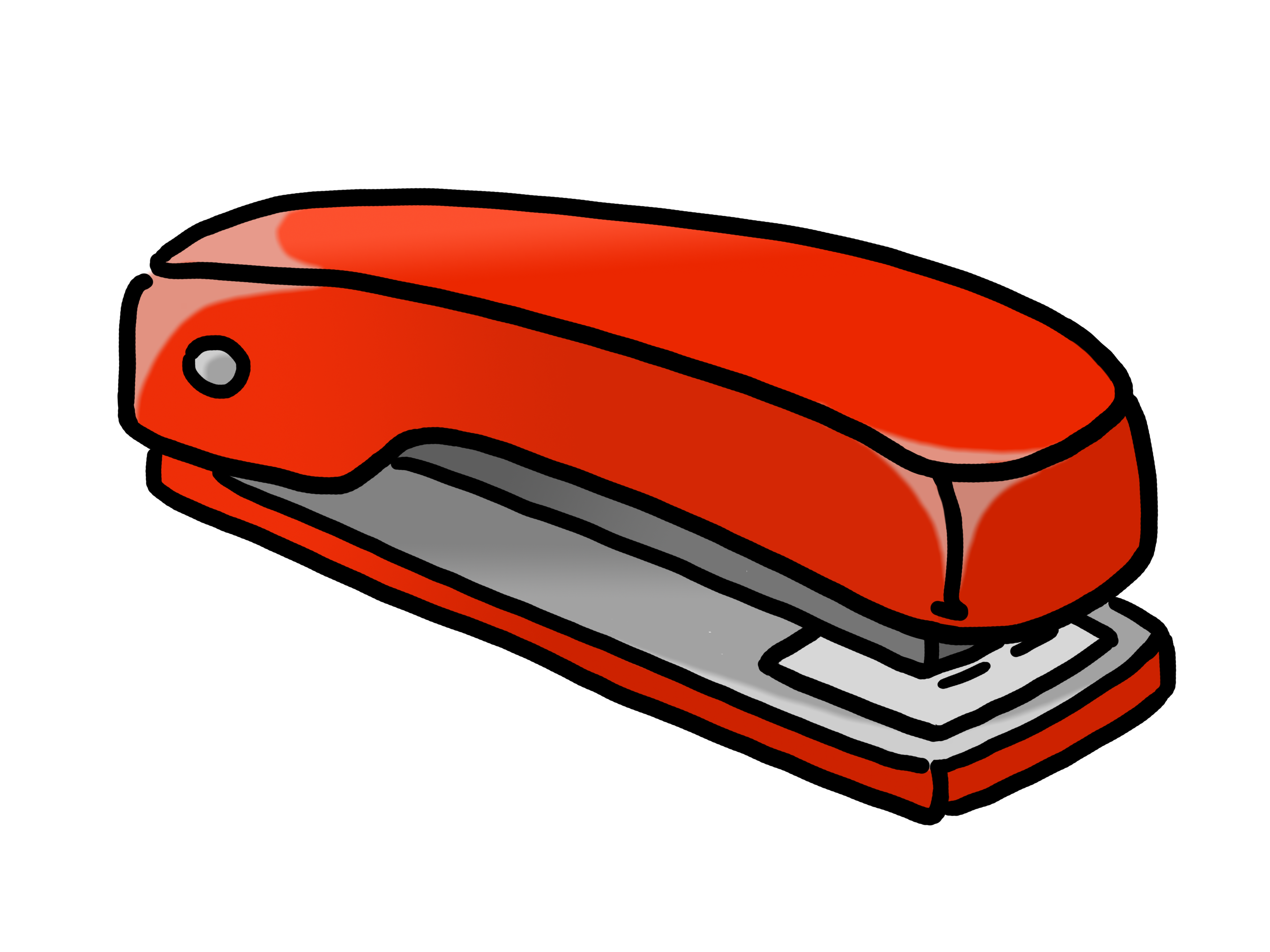 Stapler drawing simple. Clipart