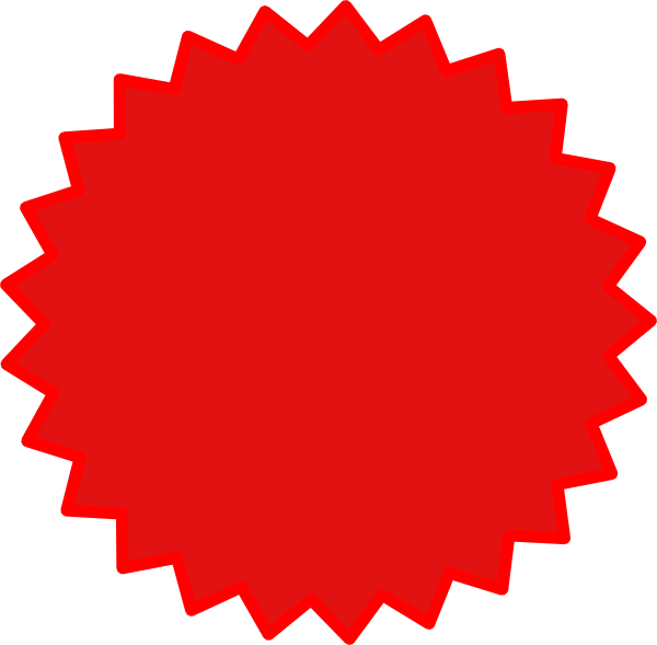Starburst png. Red clip art at