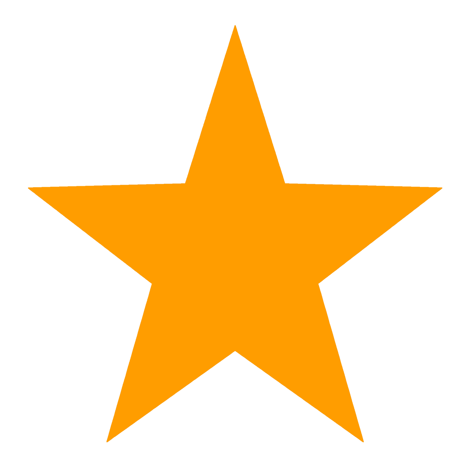 Star clipart. Orange png red template