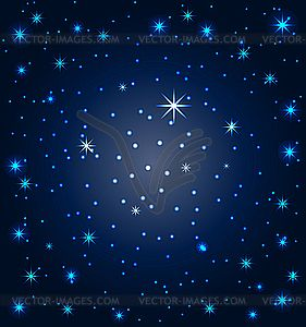 Star clipart neverland. Night sky with stars