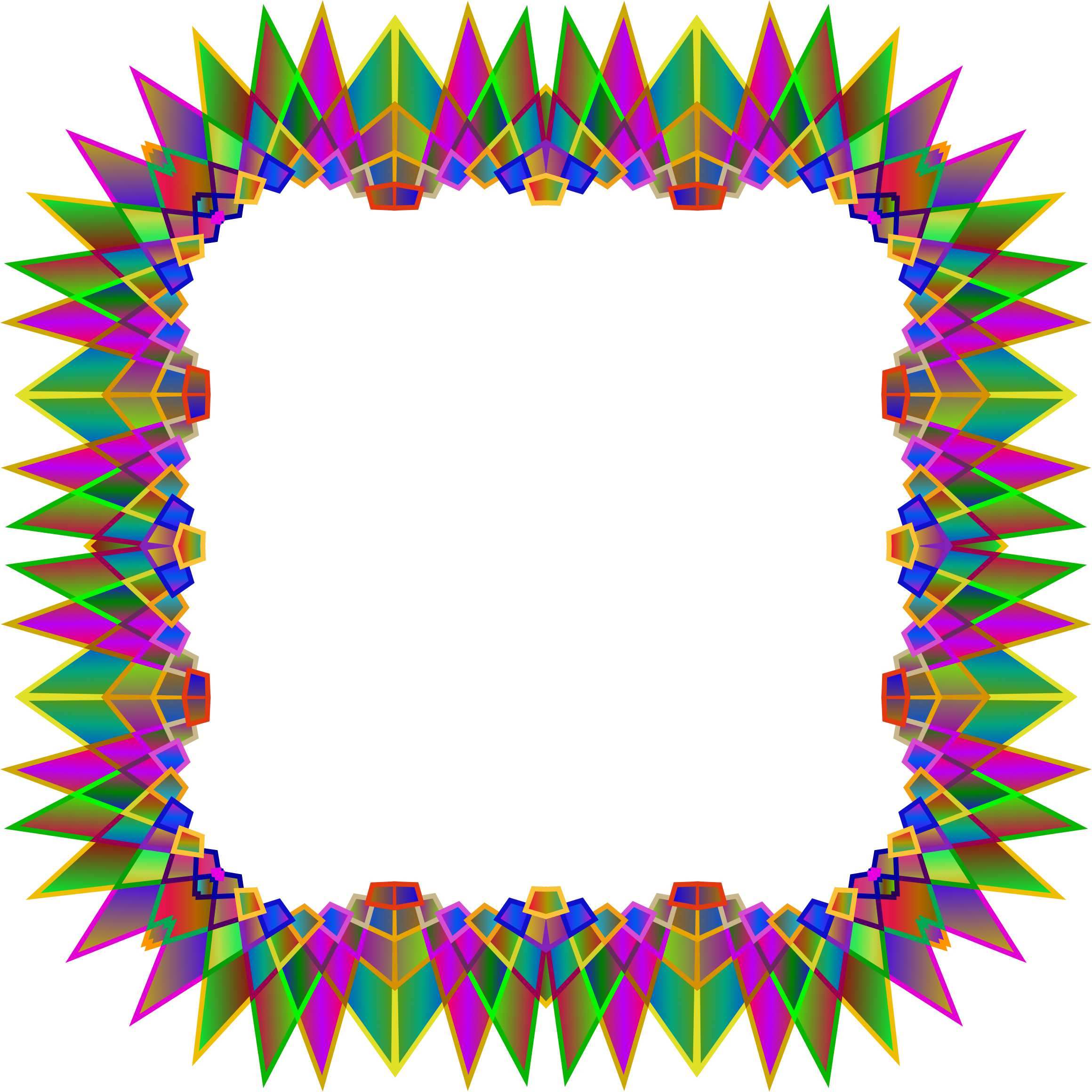 Star clipart picture frame. Prismatic multipoint icons png