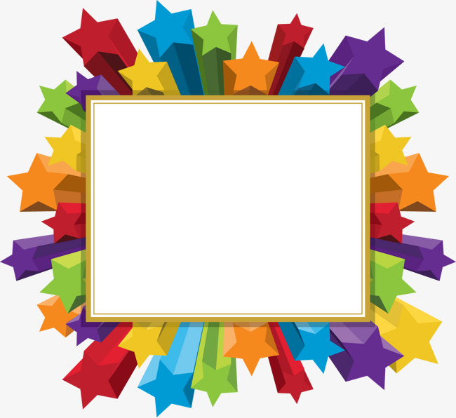 Star clipart picture frame. Three dimensional five pointed