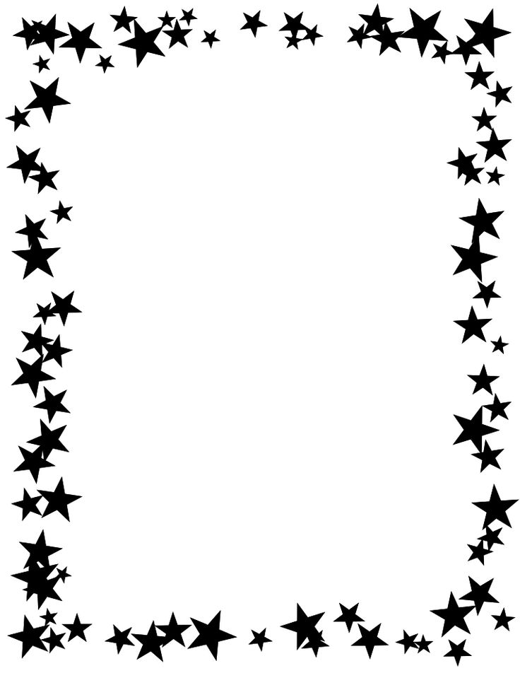 Star clipart picture frame. Best doodle paper