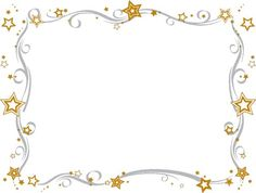 Star clipart picture frame. Free printable border black