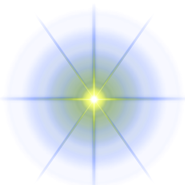 Star effect png. Light vectors and psd