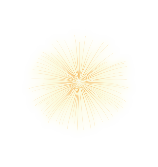 Star effect png. Yellow radiation element effects