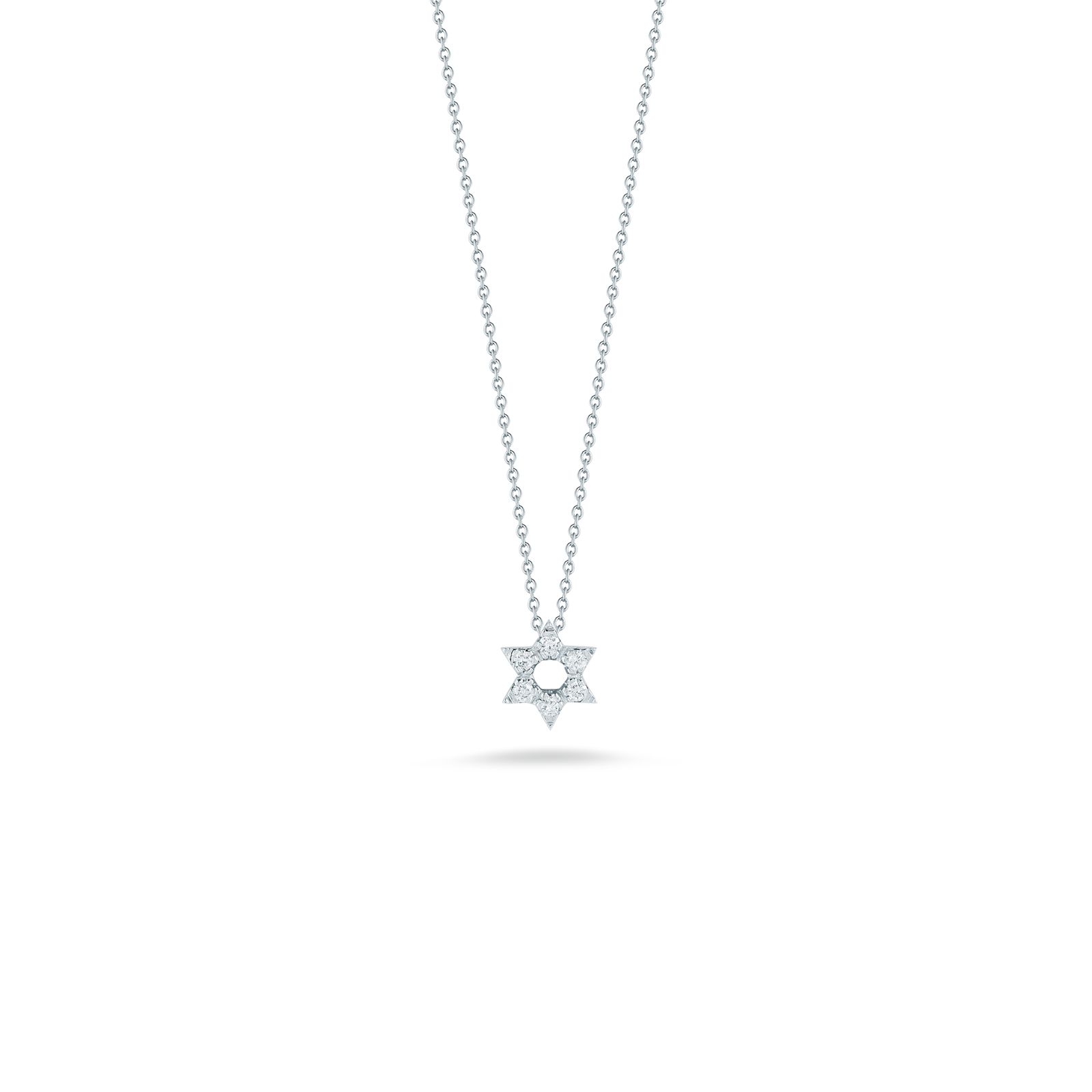 Star of david necklace png. Pendant with diamonds little