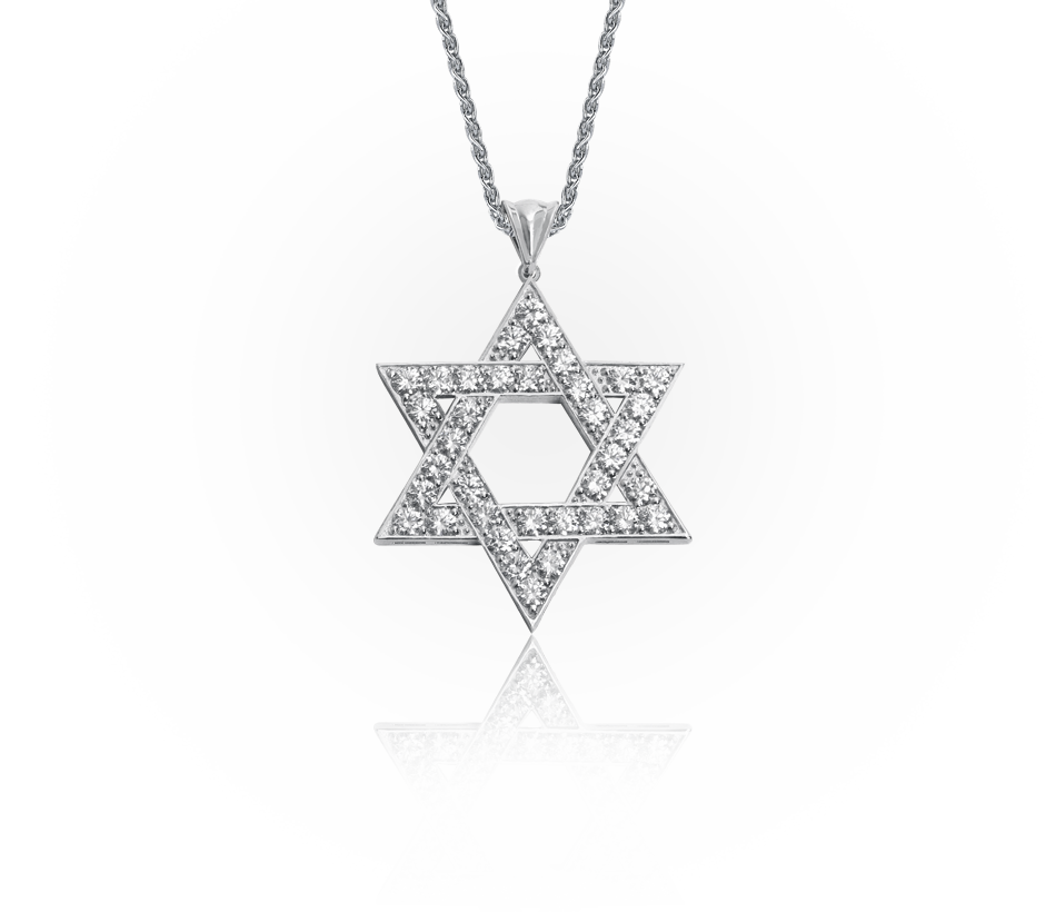 Star of david necklace png. Pendant