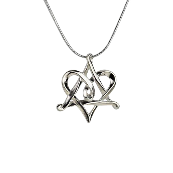 Star of david necklace png. Sterling silver heart israel