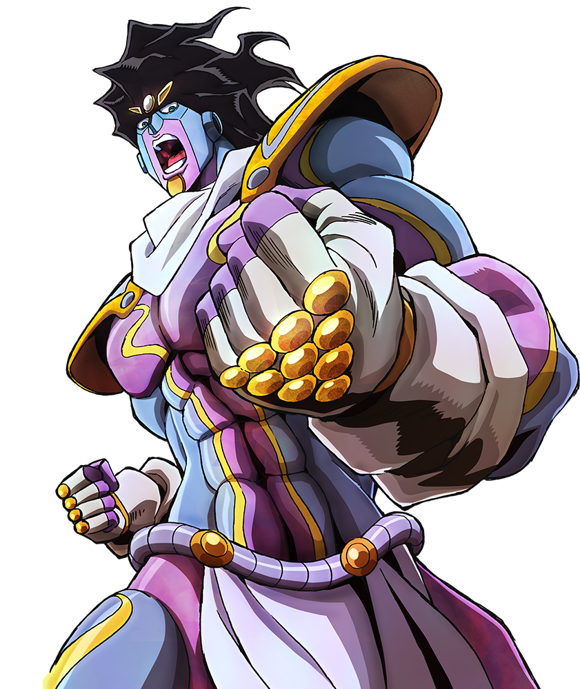 Star platinum hair png. Part art jojo s