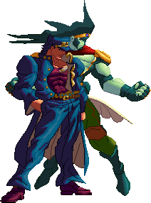 Star platinum png. Jotaro and xii by