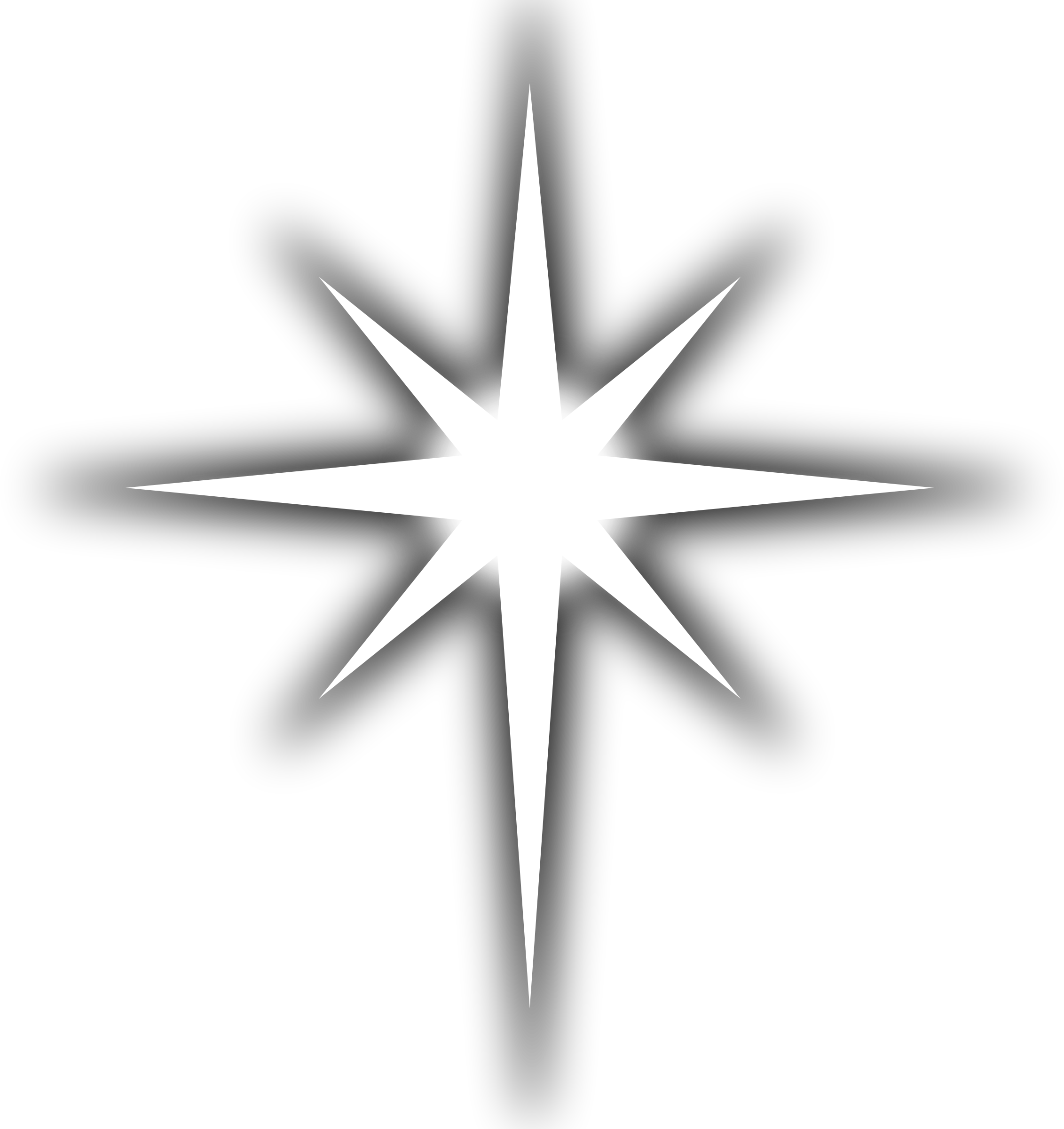 Star png white. Clipart line art big