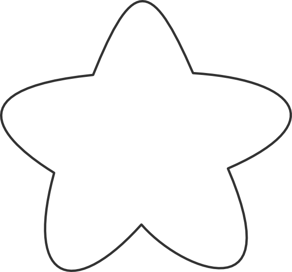 Star png white. Outline clip art at