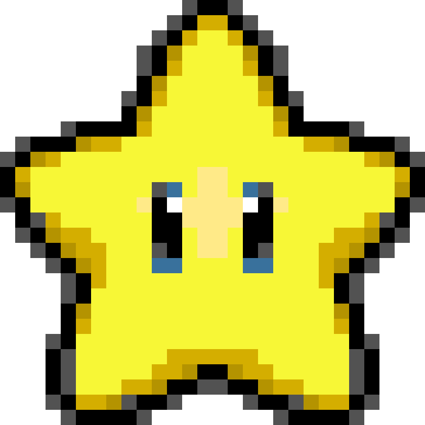 Star sprite png. Destiny yellow by banjo
