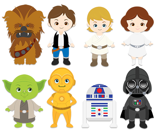 Star wars clipart png. Wall stickers for kids