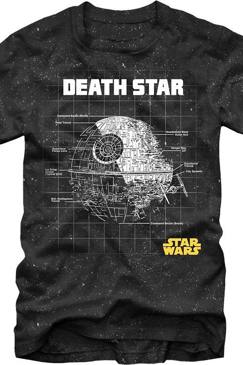 Star wars death star png. Schematics t shirt