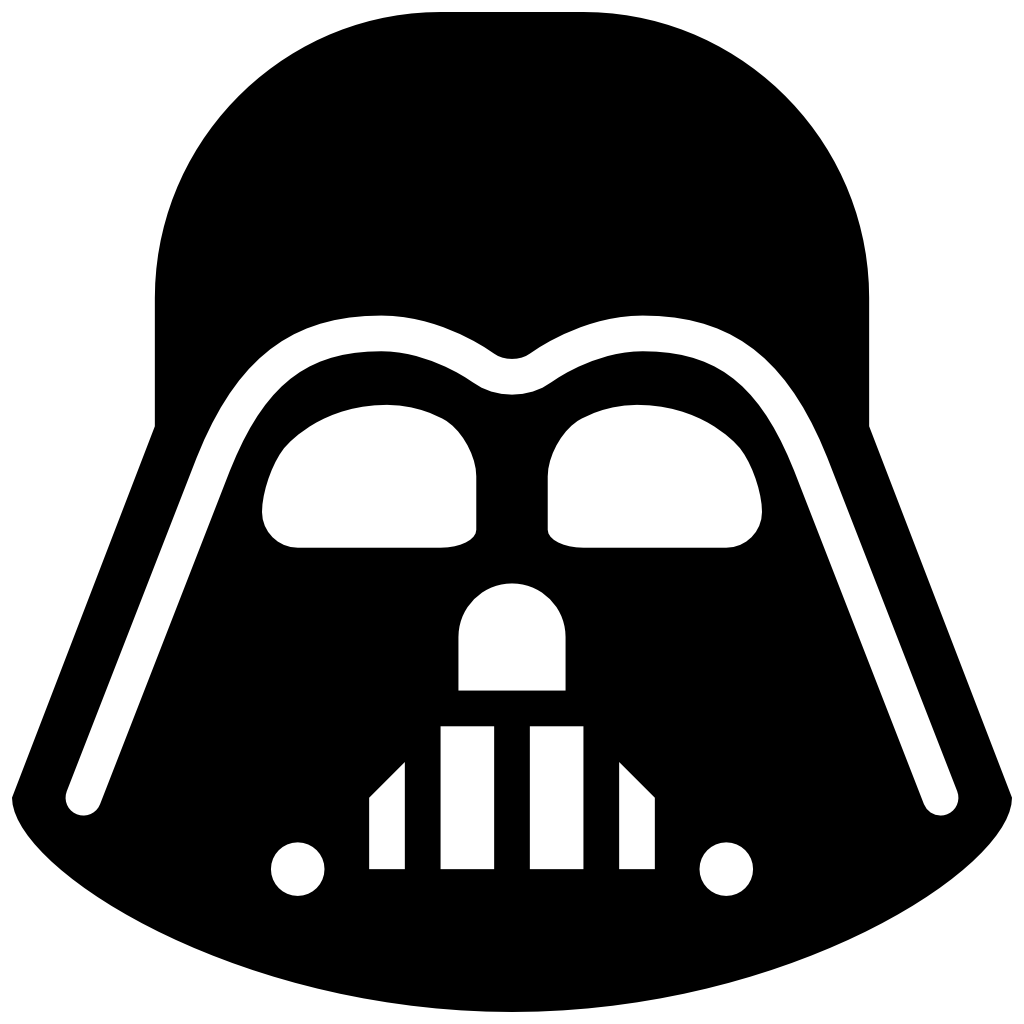 darth vader outline png
